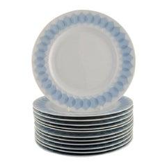 Bjørn Wiinblad for Rosenthal, Twelve Lotus Porcelain Dinner Plates
