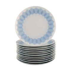 Bjørn Wiinblad for Rosenthal, Twelve Lotus Porcelain Salad Plates