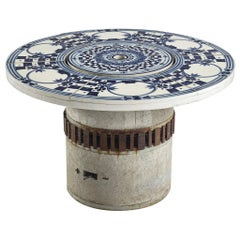 Bjørn Wiinblad 'Hibachi' Patio Grill Table with Hand Painted Ceramic Top