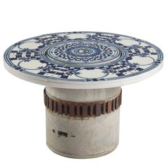 Bjørn Wiinblad 'Hibachi' Patio Grill Table with Hand-Painted Ceramic Top