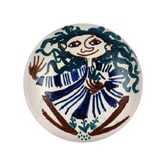 Bjørn Wiinblad, Rare and Early Dish in Glazed Ceramic with Female Motif