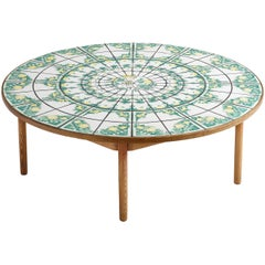 Bjørn Wiinblad Round Coffee Table with Ceramic Tiles
