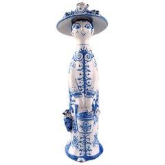 "Bjørn Wiinblad Unique Ceramic Figure, ""Summer"" in Blue ""Seasons"", 1979"
