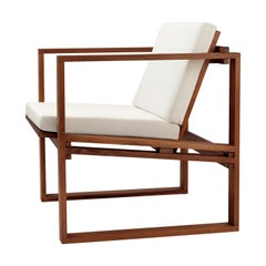 BK11 Lounge Chair in Teak Oil with Cushions by Bodil Kjær