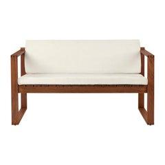 BK12 Lounge Sofa in Teak Oil with Sunbrella Canvas Cushions by Bodil Kjær