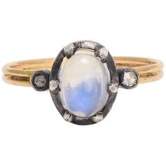 BL Bespoke Blue Moonstone Power Ring