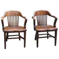 B.L. Marble Bankers Chairs Pair