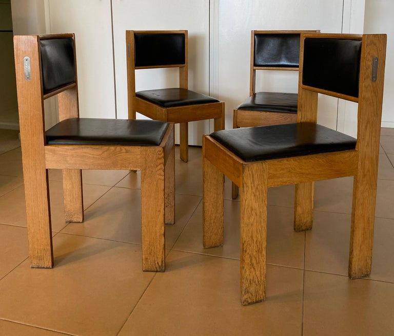 Bla' Station Condeco chair Design: Johan Lindau, 2OO3 Chair. Frame of solid oak  Very comfortable with extraordinary shaped geometrical structure. Leather and wood in excellent conditions. Weight: 8,0 Price :$1,200/each chair Available: 18