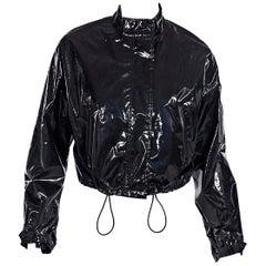 Black 3.1 Phillip Lim Cropped Patent Jacket