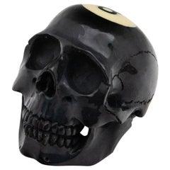 Black 8 Ball Skull