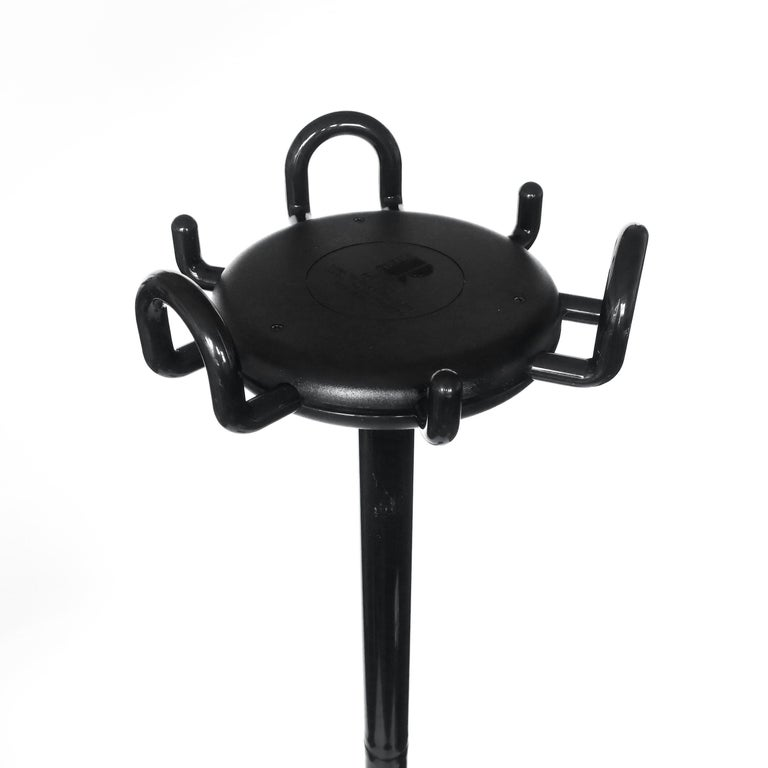 Italian Black Aiuto Coat Rack by Barberi and Marianelli for Rexite For Sale