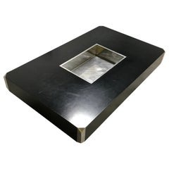 Black Alveo Coffee Table by Willy Rizzo, 1970s
