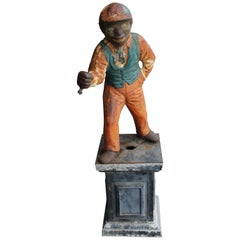"Black Americana ""Jocko the Jockey"" Cast Iron Hitching Post"