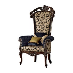 Black and Beige Armchair