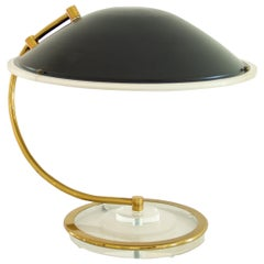 Black and Brass Desk Lamp by Bauer, 1983