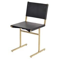 Black and Brass Memento Chair, Jesse Sanderson