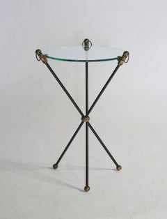 Black and Brass Tripod Table