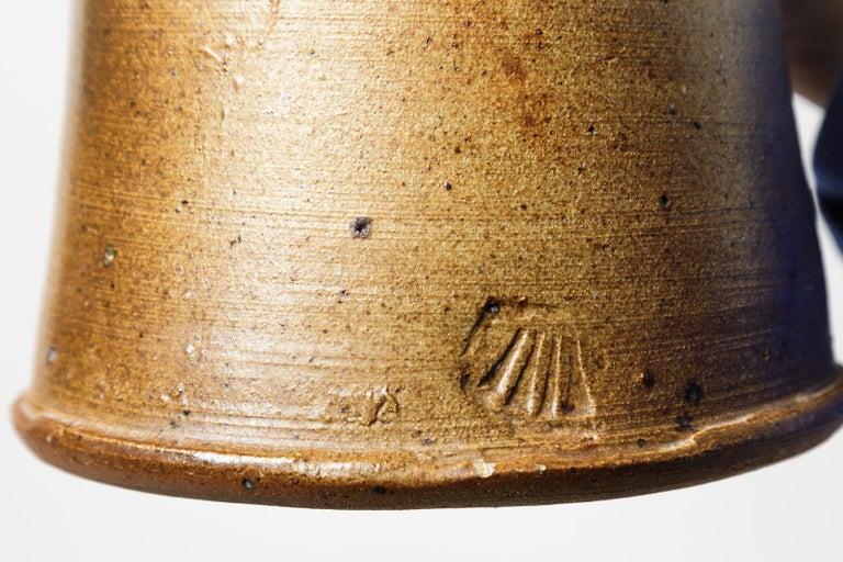 20th Century Black and Brown Stoneware Ceramic Vase by Pierre Digan La Borne, 1970 For Sale