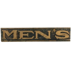 Black and Gold 19th Century Men's Department Store Sign
