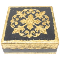 Black and Gold Gilded Florentine Box
