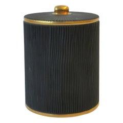 Black and Gold Vanity Bath Vessel