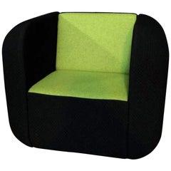 Schwarzer-Grünes Set 2-Sitzer-Sofa und Sessel
