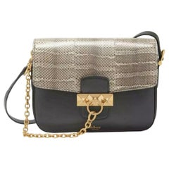 Black and Grey Mulberry Keeley Satchel