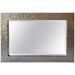 Black and Mother of Pearl Framed Mirror