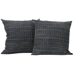 Black and Off-White Geometric Style Pillows