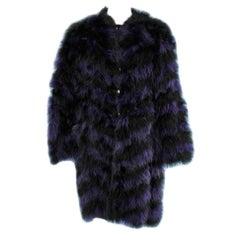 Black and purple feather coat Chantal Thomass