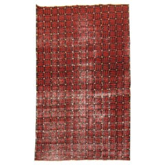 Black and Red Antique Deco Rug