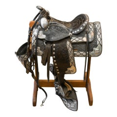Black and Silver Ted Flowers Parade Saddle