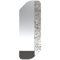 Black and Speckled WG.C1.D Hand-Crafted Wall Mirror