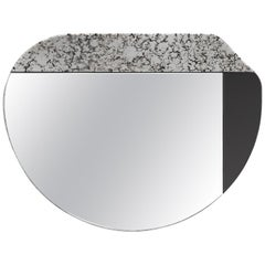 Black and Speckled WG.C1.E Hand-Crafted Wall Mirror