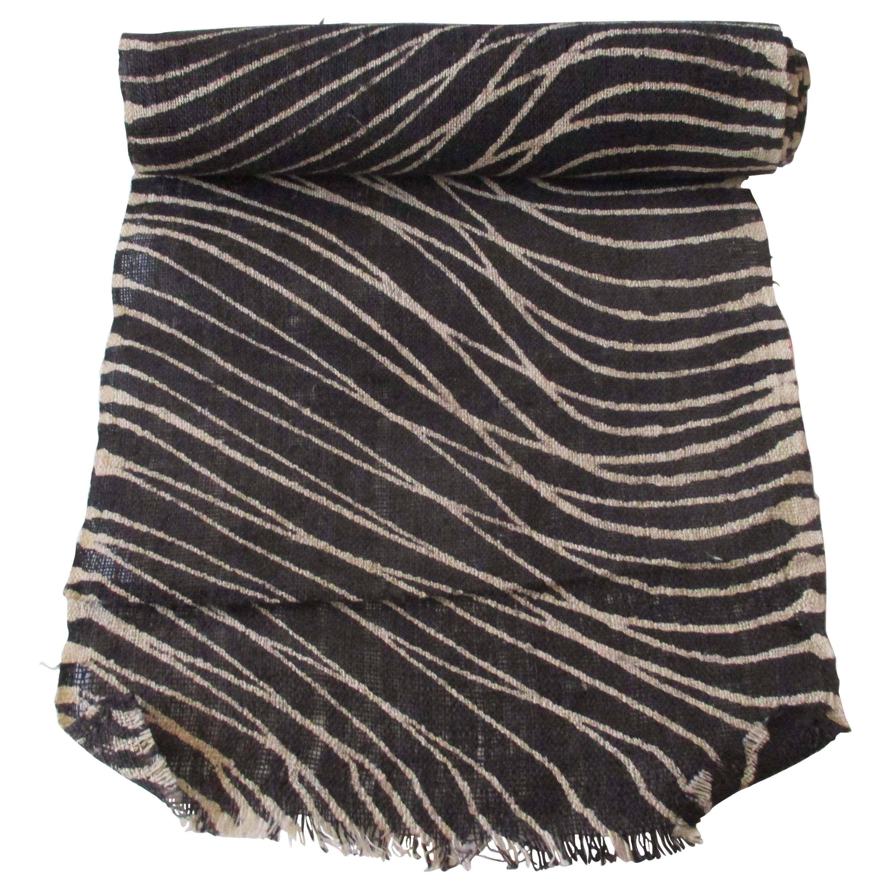 Black and Tan Undulating Pattern Textile Roll