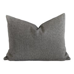 Black and Tan Woven Designer Lumbar Pillow Covers