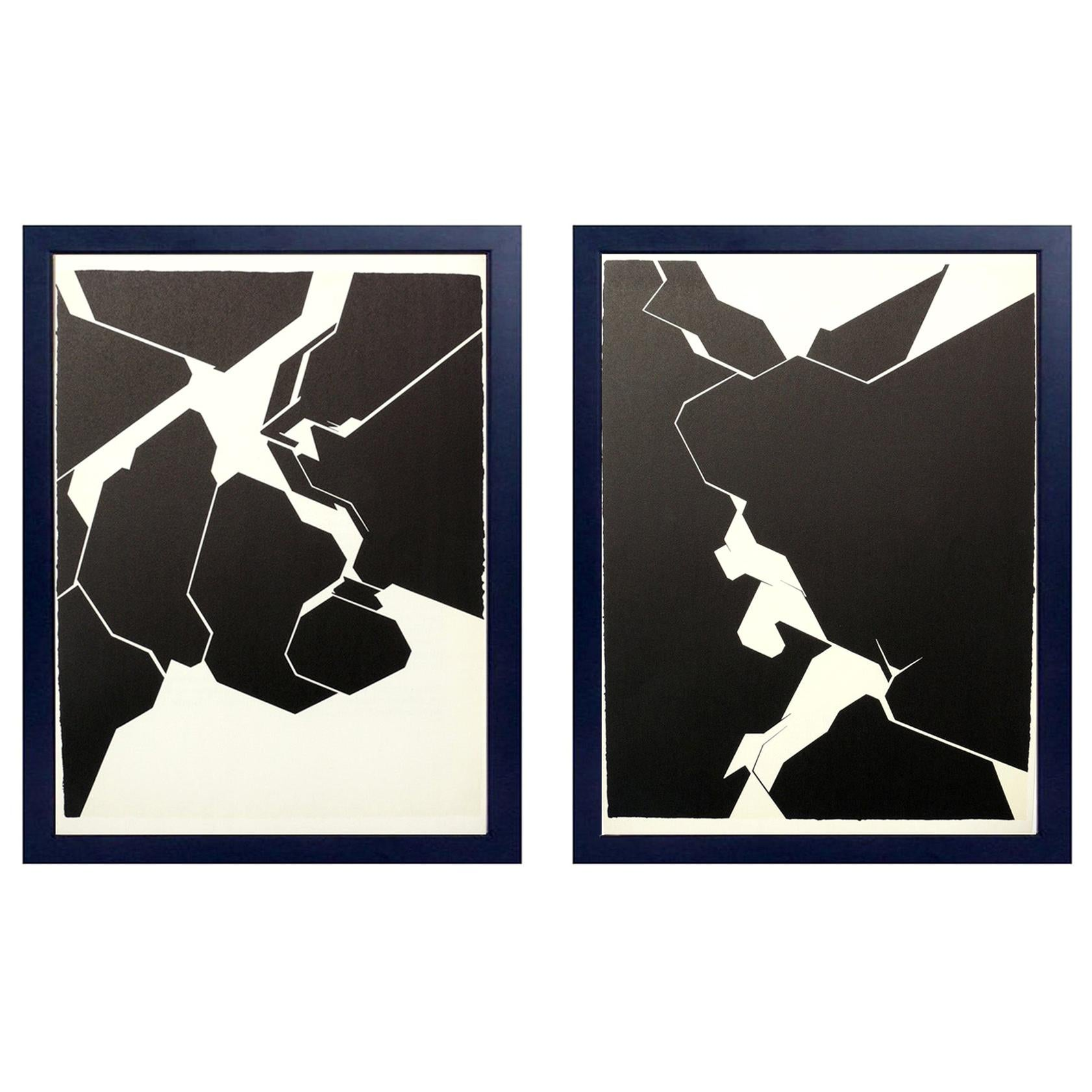 Black and White Abstract Lithographs by Pablo Palazuelo