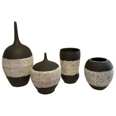 Black and White Ceramic Vessels by William Coggin