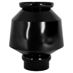 Black and White Coa Decorative Vase, w/ Minimal and Luxurious Jar Silhouette