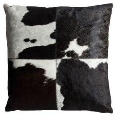 Black and White Cowhide Cushion