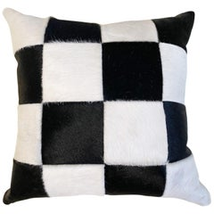 Black and White Cowhide Patchwork