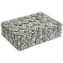 Black and White Cracked Resin Box