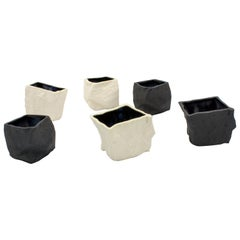 Black and White Cups 6-Set by Craig Barrow