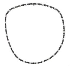 Black and White Diamond 18 Karat White Gold Zydo Necklace