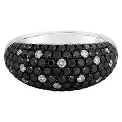Roman Malakov Black and White Diamond Dome Ring