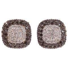 Effy White Gold Black White Diamond Earrings