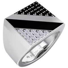 Black and White Diamonds Men's Ring