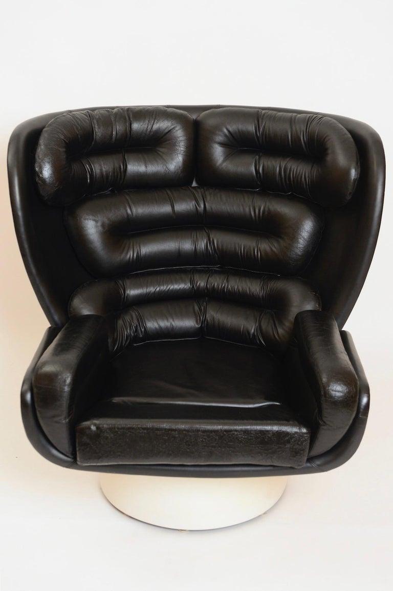 Italian Black and White 'Elda' Chair by Joe Colombo, Italy, circa 1960 For Sale