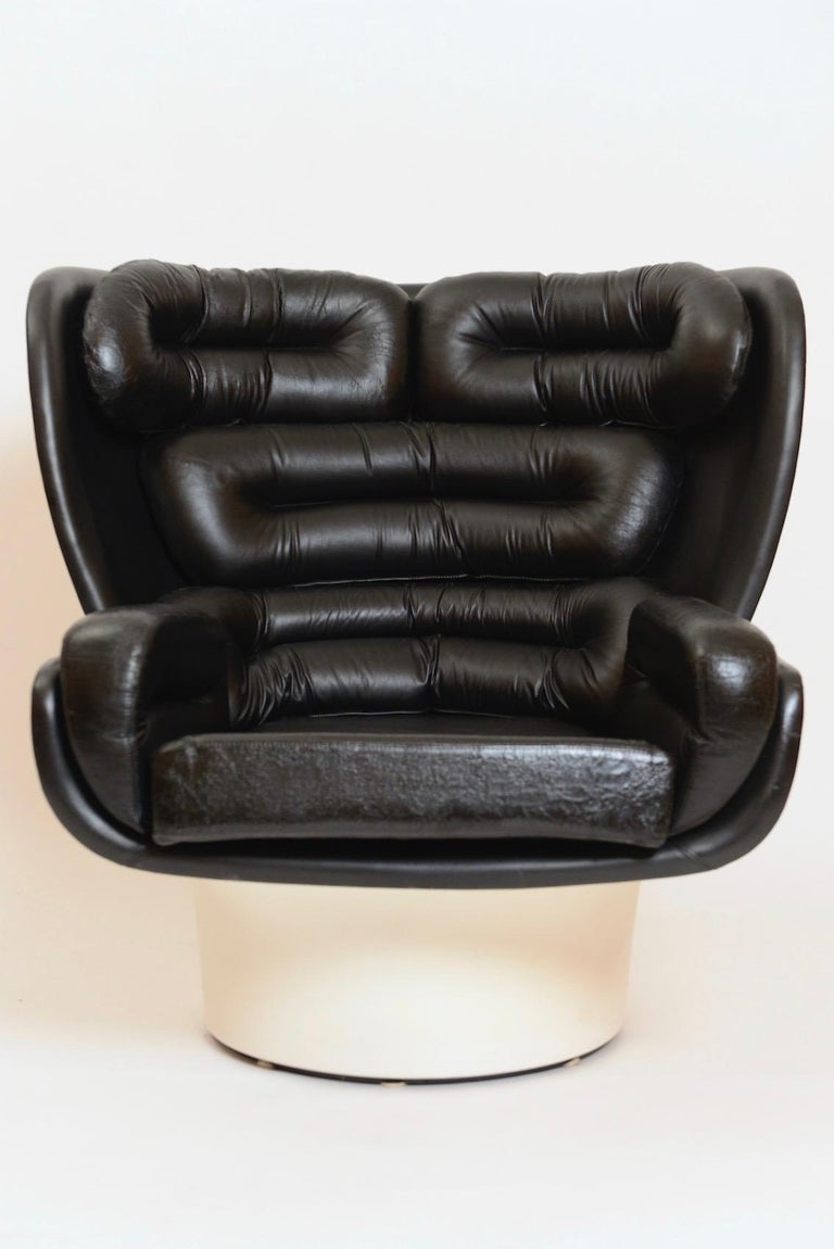Black and White 'Elda' Chair by Joe Colombo, Italy, circa 1960 In Good Condition For Sale In London, GB