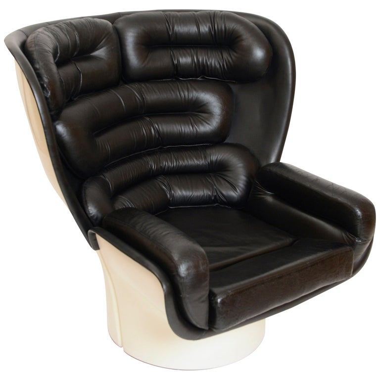 Black and White 'Elda' Chair by Joe Colombo, Italy, circa 1960 For Sale